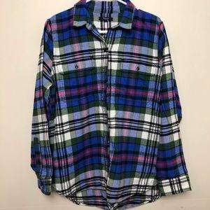 Madewell Plaid Flannel Ex-Boyfriend Shirt